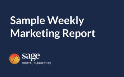 Sample Weekly Marketing Report